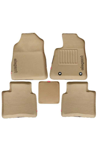 Sportivo 3D Car Floor Mat Beige (Set of 5)