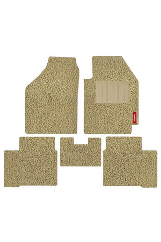 Grass Car Floor Mat Beige (Set of 5)