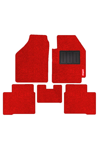 Luxury Carpet Car Floor Mat Red (Set of 5)