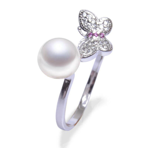 Freshwater Pearl Butterfly Ring