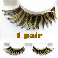Golden Glitter Black Eyelashes (Halloween/ Stage effect) - Ohmykitty Online Store