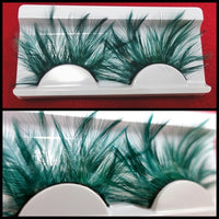 Green Light Feather Eyelashes (Halloween / Stage effect) - Ohmykitty Online Store