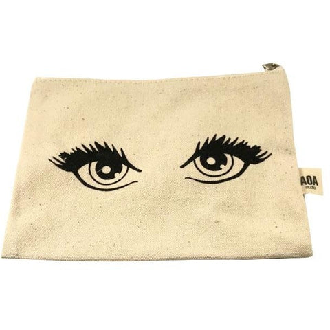 AOA Canvas Pouch - Eyelashes For Days