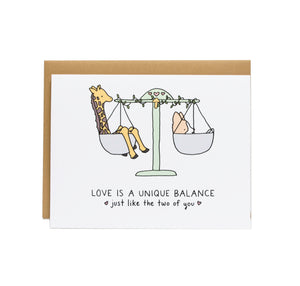 Love is a Unique Balance Wedding Card