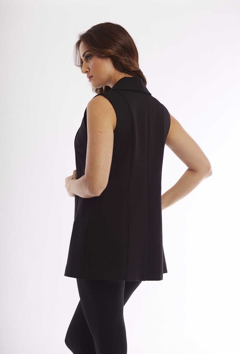 Long Zipper Vest