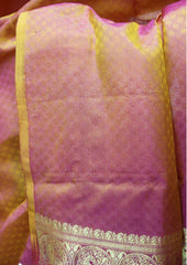 Orange  with Pink Kanchipuram Silk Saree-ET14029