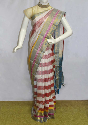 Multicolour Kanchipuram Silk Saree-EK8085