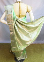 Pista Green Kanchipuram Silk Saree-FM83147