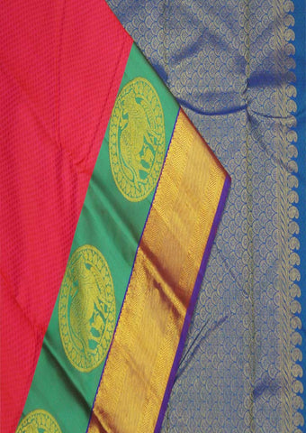 Multi Colour Kanchipuram Silk Saree-FF16739