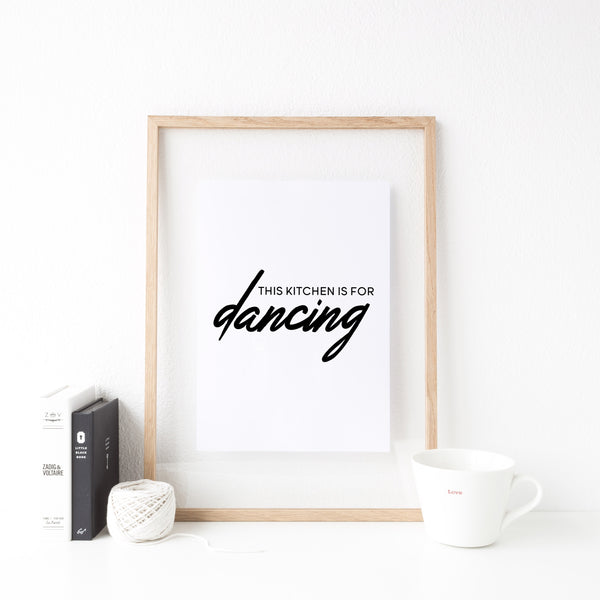 This Kitchen Is For Dancing (dark version)