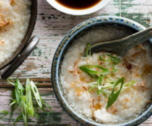 Congee with Nori Crumbles & Flax