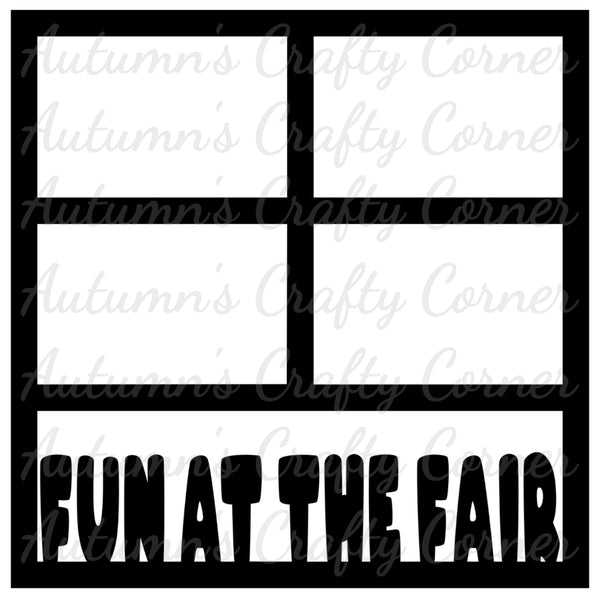 Fun at the Fair - 4 Frames - Scrapbook Page Overlay Die Cut - Choose a Color