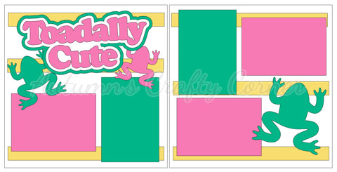 Toadally Cute - Girl - Scrapbook Page Kit