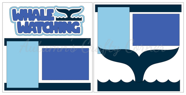 Whale Watching - Scrapbook Page Kit