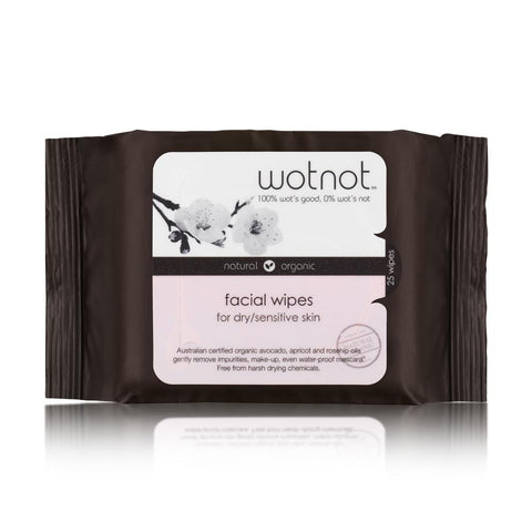 Natural Face Wipes for Dry and Sensitive Skin 25pk