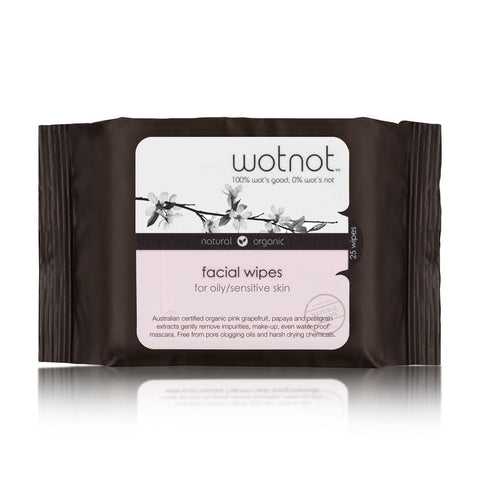 Natural Face Wipes for Oily and Sensitive Skin 25pk