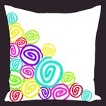 Color Collection Multi Curly Q Throw Pillows