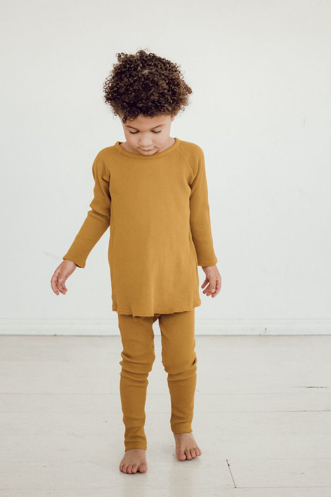 Mustard Thermal Leggings