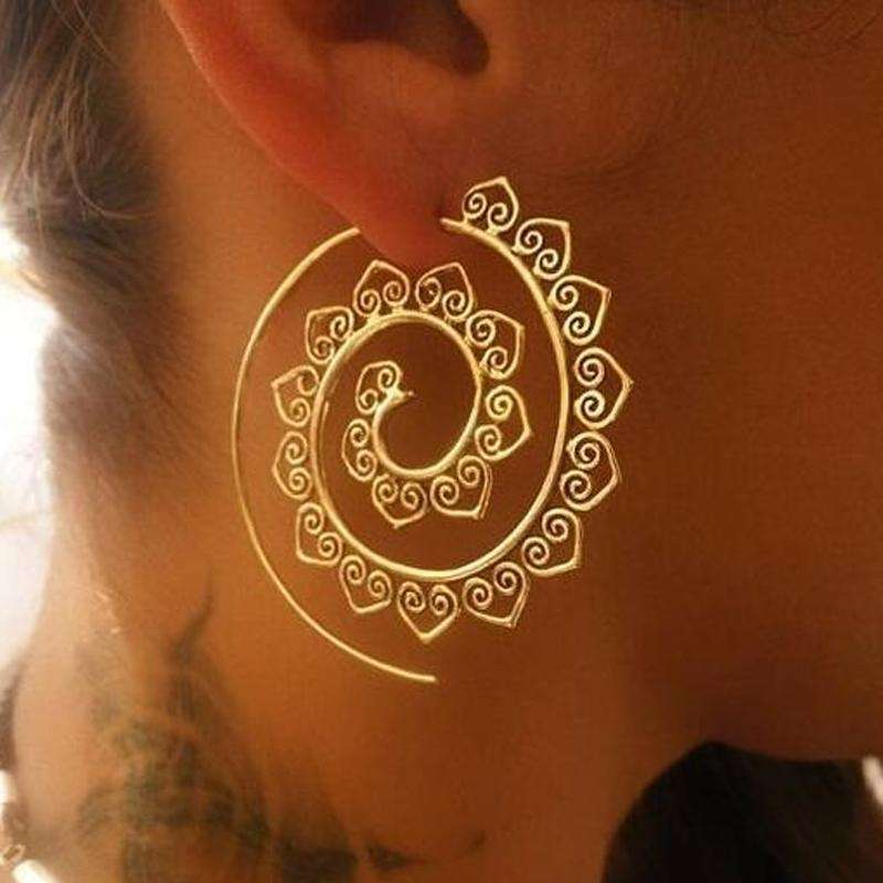 Lotus Earrings,ring,[product_vender],Mindful Bohemian