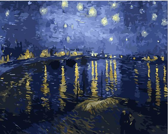 Van Gogh - Starry Night over the Rhone - Paint by Number kit