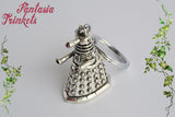 Dalek Keychain - Antique Silver Robot Keyring or Pendant Necklace - Doctor Who inspired Jewelry