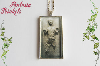 Han Solo in Carbonite Photo Glass Pendant Necklace - Star Wars inspired
