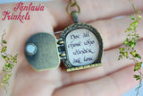 Custom Door Locket (any color + personalized text / photo) Keychain or Pendant Necklace