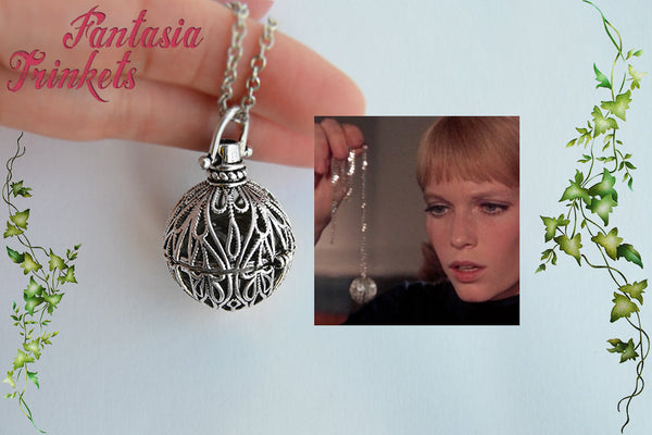 Rosemary's Baby Tannis Root Charm Pendant Necklace - Demonic Amulet Replica (Cage Locket Version)