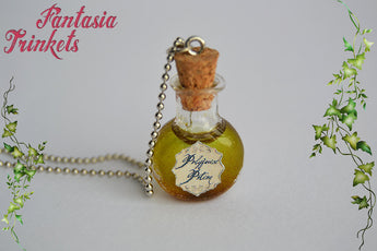 Polyjuice Potion - Magic Glass Bottle Charm Pendant Necklace - Harry Potter Jewelry