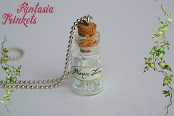 Phoenix Tears - Magic Potion Glass Bottle Charm Pendant Necklace - Harry Potter Jewelry