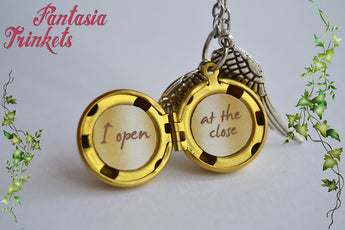 Golden Snitch Locket (custom text inside) Harry Potter Charm Keychain Pendant Necklace