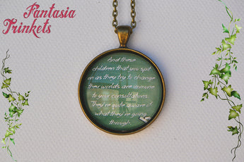 "Breakfast Club Intro ""And these children that you spit on..."" Quote Photo Glass Pendant Necklace"