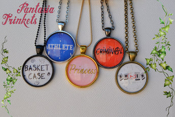 The Breakfast Club inspired Photo Glass Pendant Necklace Collection - 80s Nostalgia Jewelry