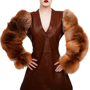 Tan Fur Sleeves - Fox