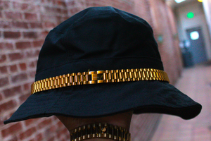 Black Bucket Hat with Presidential Band PRSVR