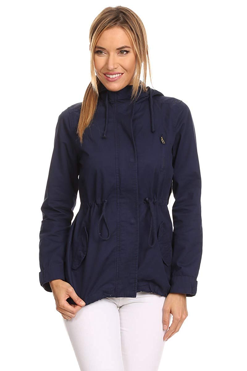 Ambiance Apparel Women's Cargo Style Hoodie Jacket