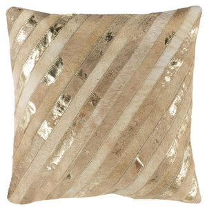 LATTA METALLIC COWHIDE THROW PILLOW