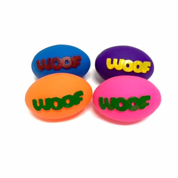 Woof Rubber Squeaky Ball