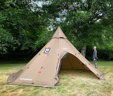Megahorn XL Tipi Hot Tent with Hunter