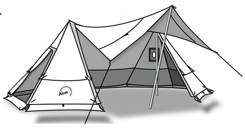 Twinpeak Awning Tent 5p With Wood Stove Jack Luxe