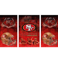 San Francisco 49ers Fridge, San Francisco 49ers Beer Fridge, San Francisco 49ers Mini Fridge, San Francisco 49ers Fridge Decals, Custom Fridge Wraps, Fridge Decals