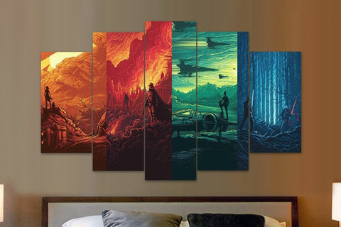 Star Wars - 4 Worlds - 5 Piece Canvas