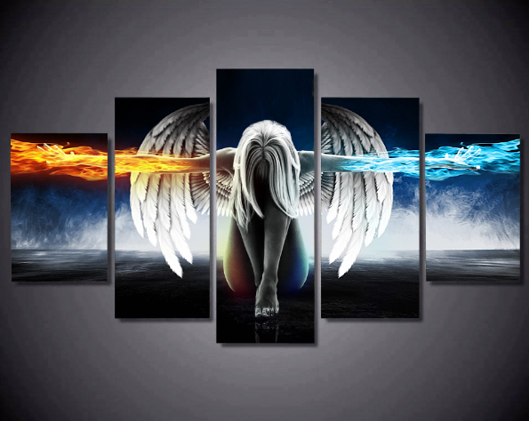 5PCS Abstract Angel Canvas Prints Painting - 5 piece Canvas
