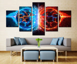 Game power painting - 5 piece Canvas