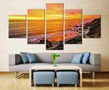 Natural Mauntain Sky and sea Beach - 5 piece Canvas