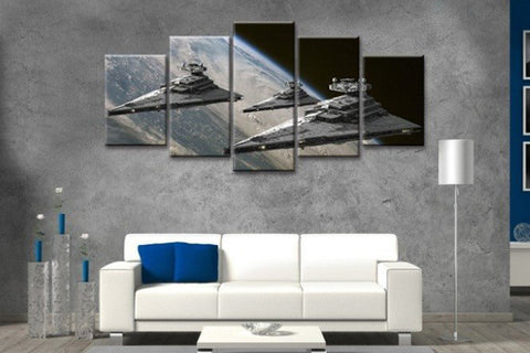 Star Wars Super Star Destroyer Painting - 5 Piece Canvas