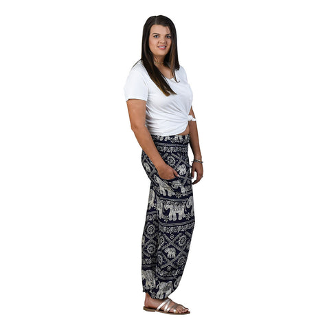 Sherri Blueberry Harem Pants on Model