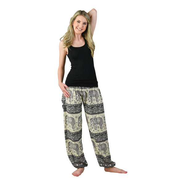 Caira Black Harem Pants on Model
