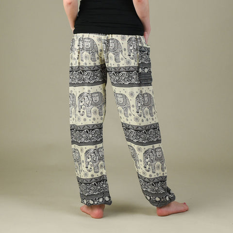 Caira Black Harem Pants Rear View