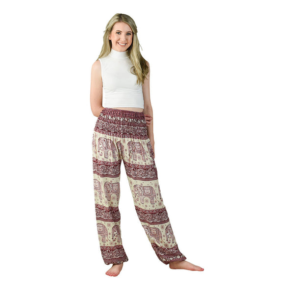Caira Cherry Harem Pants on Model